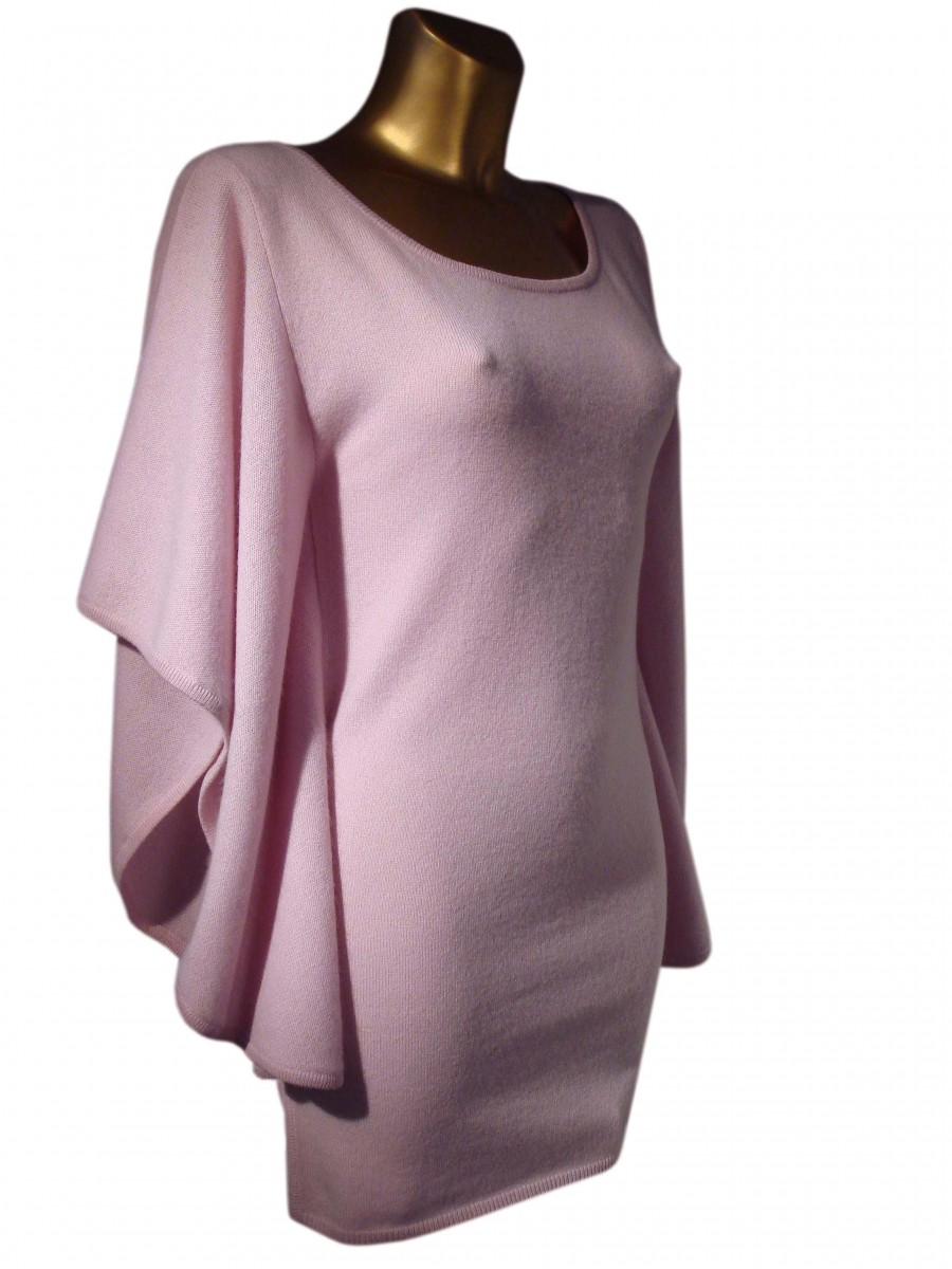 Long Cashmere Bat Wing Sleeve