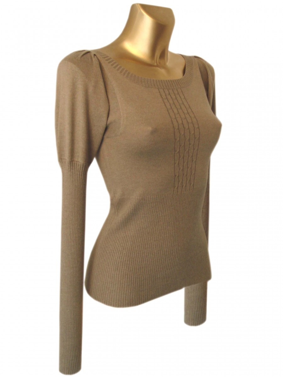 Silk/Cashmere Ribbed Jumper