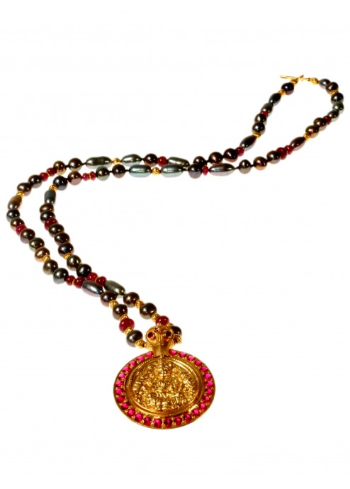 Indian Deity Medallion Necklace