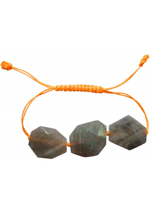 Three Stone Labradorite Friendship Bracelet