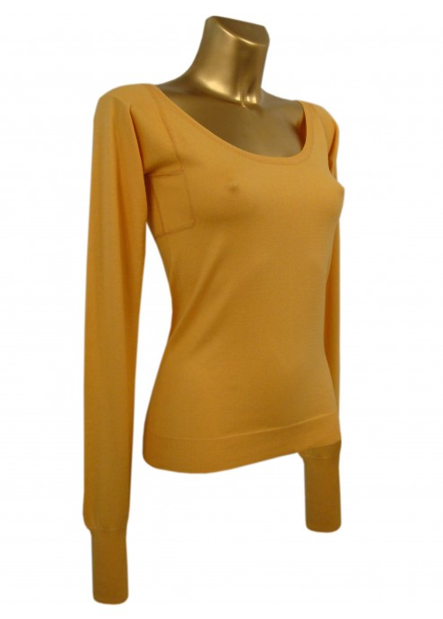 Long Sleeved T-Shirt in Silk/Cotton/Cashmere