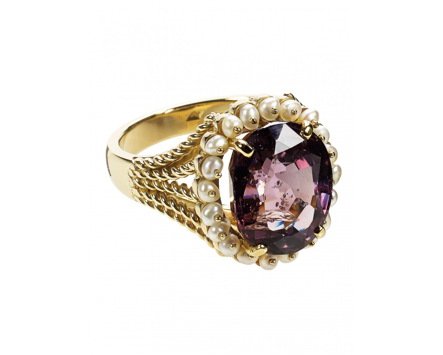 spinel pearl cocktail ring rings jewellery